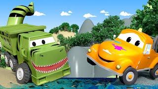 Download Oficina de Pintura do Tom - Ethan é um Tiranossauro Rex - Cidade do Carro 🚗 Desenhos Animados 🎨 Video