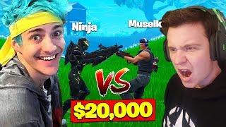 Download Ninja Vs. Muselk For *$20,000* In Fortnite Battle Royale! Video