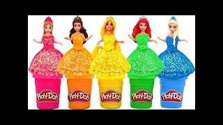 Download Robe Princesses Disney Play Doh Elsa frozen Anna Cendrillon les meilleurs jouets Video