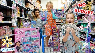 Download KIDS NO BUDGET WALMART SHOPPING! 🤑 Peyton & Olivia Toy Haul Video