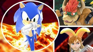 Download Who Can Survive the Lava Pool in Super Smash Bros Ultimate? (All Characters Vs. Pool is Lava) Video