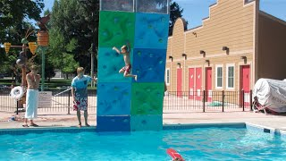 Download ROCK CLIMBING FAIL AT THE POOL!! Video