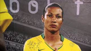 Download Ex-jogadora da seleção brasileira agora é açougueira Video