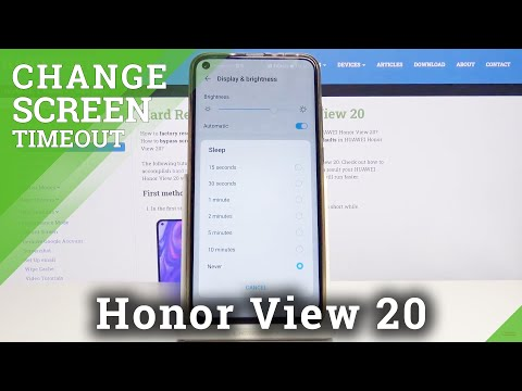 How to Set Up Screen Timeout on Honor View 20 – Sleep Time