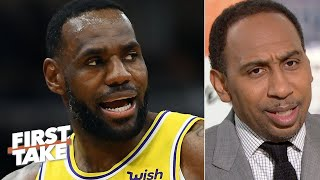 Download Stephen A. congratulates LeBron on being the 2nd-greatest NBA player ever | First Take Video