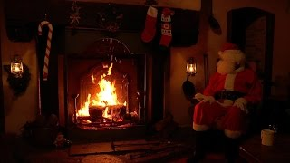 Download 🎅Santa Claus Relaxing at the Crackling Christmas Fireplace Video