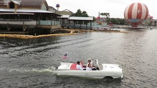 Download An Amphicar Ride At Sunset At Downtown Disney (Disney Springs)!!! Video