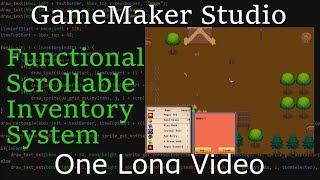 Download GameMaker Studio 1 & 2 Inventory Tutorial Video