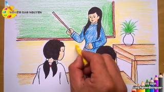 Download Vẽ tranh đề tài học tập/How to Draw Learning topics Video