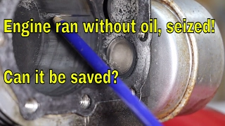 Download Engine ran without oil, seized! Can it be saved? Video