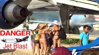 Download St. Maarten Jet-Blast Compilation for 8 aircraft videos - please watch and vote Video