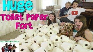 Download HUGE INDOOR TOILET PAPER FORT / That YouTub3 Family Video