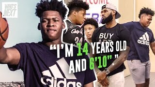 Download ″I'm 14 And I'm Taller Than LeBron.″ 8th Grader Jahzare Jackson Is 6'10″ & The Next SHAQ 😱 Video