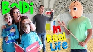Download Baldi's Basics Game IN REAL LIFE! (FUNhouse Family) Video