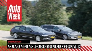 Download Volvo V90 vs. Ford Mondeo Vignale - AutoWeek Dubbeltest Video