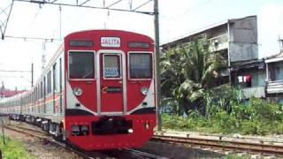 Download Railway Kereta api : KRL Jalita depart from the Jakartakota Station Video