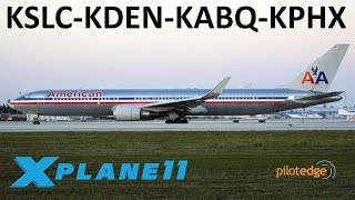 Download X-Plane 11 | Some Boeing Love!!! | KSLC-KDEN-KABQ-KPHX | B767 B757 B737 | PilotEdge Video