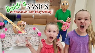 Download Escape the Babysitter Baldi in Real Life! Baldi's Basics in Education and Learning! Video