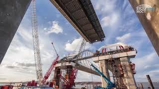 Download Крымский мост. Последние метры надвижки с таманской стороны. Остался еще пролёт с керченской. Video