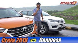 Download Hyundai Creta 2018 vs Jeep Compass Comparison | हिंदी | MotorOctane Video