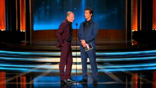 Download Woody Harrelson and Matthew McConaughey accept the Emmy Award on behalf of Benedict Cumberbatch 2014 Video