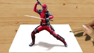 Download 3D Colored Pencil Drawing: Deadpool - Speed Draw | Jasmina Susak Video