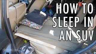 Download How to Sleep in an SUV (Sleeping or Car Camping in an SUV) Video