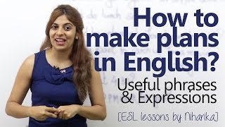 Download How to make plans in English? (Free English lesson to speak English fluently and confidently) Video
