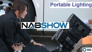 Download NAB SHOW 2017 Lumos portable LED film lighting set up Video