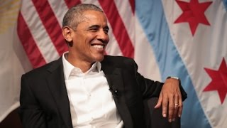 Download Obama's first post-White House public comments Video