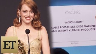 Download Emma Stone Reacts to Best Picture Mistake Between 'La La Land' & 'Moonlight' Backstage at the Oscars Video