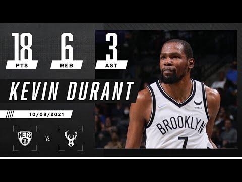 Kevin Durant scores 18 against the Milwaukee Bucks