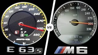 Download Mercedes E63 AMG 2017 vs BMW M6 2017 ACCELERATION TOP SPEED 0-300km/h AUTOBAHN POV by AutoTopNL Video