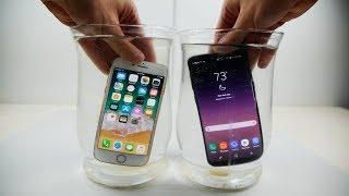 Download iPhone 8 vs Samsung Galaxy S8 Salt Water Test! Video