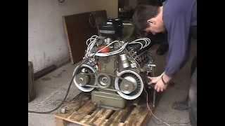 Download vzduchem chlazený Motor TATRA 603 V8, air-cooled engine, první start Video