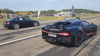 Download BEST of Drag Racing! 1300HP Audi S4, Bugatti Chiron, 725HP BMW 325i, 735HP VW GOLF 2 R32 TURBO.. Video