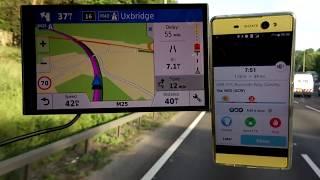 Download Garmin 61 vs Waze Sat nav Accident, Traffic, Breakdown information Video