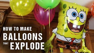Download How To Make Balloons, That Explode Video