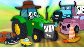 Download Little Red Car Rhymes - Old Mac Donald | Funny Old MacDonald With Cars Video