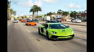 Download BullFest 2018 Lamborghini VS Lamborghini 100+ Lambos BLASTING from Lamborghini Miami Video