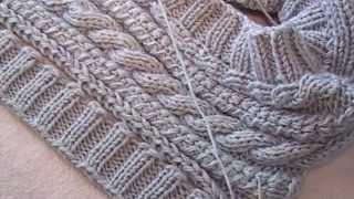 Download женский жилет спицами ( планки, часть 2 ) Video