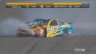 Download Monster Energy NASCAR Cup Series 2017. Indianapolis Motor Speedway. Ricky Stenhouse Jr. Crash Video