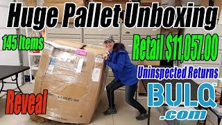 Download Huge Pallet Unboxing Retail $11,057.00 - 145 Items From Bulq Uninspected Returns Video