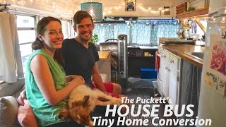 Download Gorgeous Tiny House Bus Conversion- Full Tour w/The Puckett's! Video
