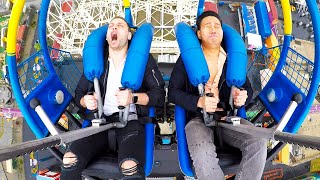 Download Try Not To Scream Challenge: Slingshot Amusement Park Ride Video