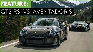 Download Porsche 911 GT2 RS vs Lamborghini Aventador S. Which is better? Video