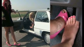 Download Miss Barbie and Miss Melanie - Crazy Girls Revving   Trailer Pedal Pumping Video