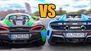 Download McLaren 675LT Spider VS McLaren 570S - DRAG RACE! Video
