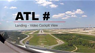 Download Landing at Atlanta - William B Hartsfield Int'l Airport (ATL/KATL) USA - (Cockpit View) Video