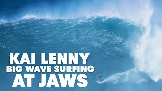 Download Go Behind Kai Lenny's 20ft Jaws Lip Drop Video